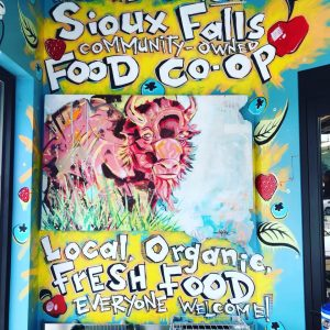 sioux falls co-op mural featuring a buffalo