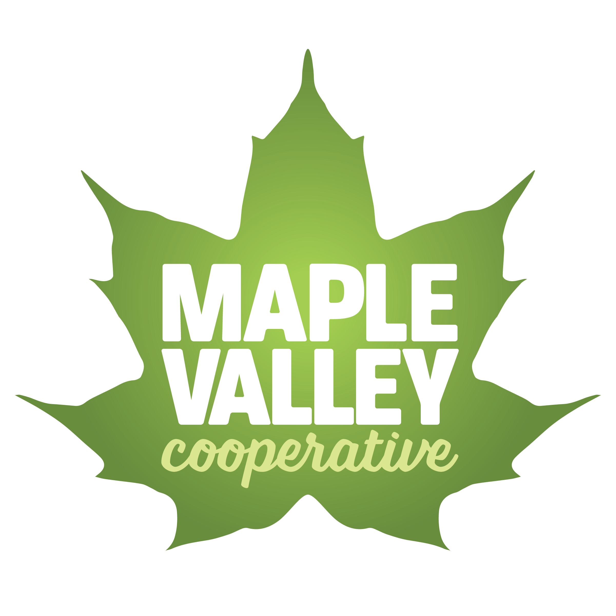 Maple Valley Cooperative logo of a maple leaf