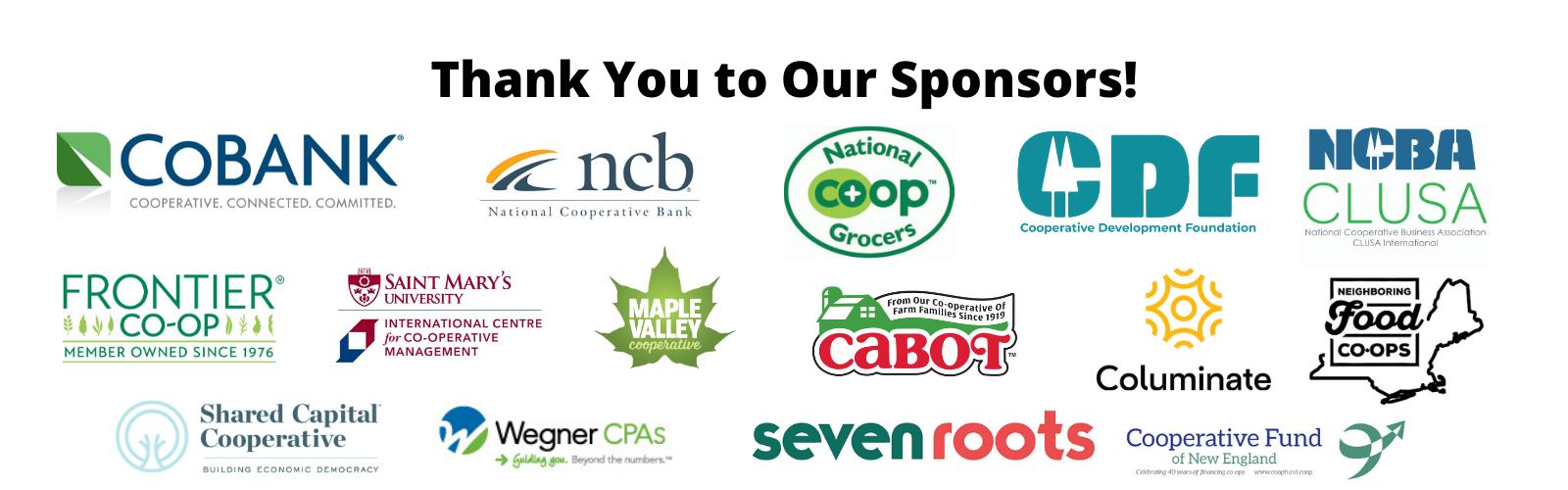 logos of CCMA 2020 sponsors